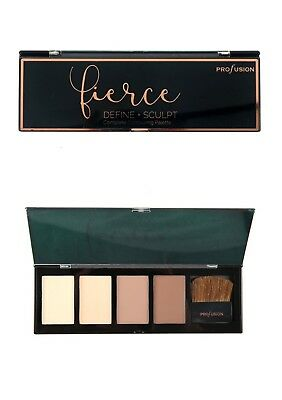 FIERCE COMPLETE 4 SHADE CONTOUR PALETTE WITH BRUSH by Profusion
