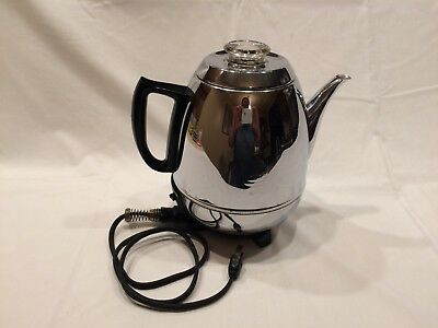 GE Pot Belly 9-cup percolator vintage 1960s WORKS!