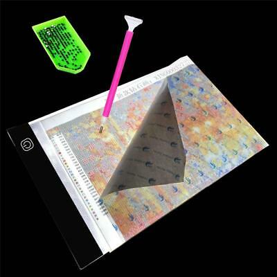 DIY 5D Diamond Painting LED Light Board Table Pad Dimmable Ultrathin 3.5mm A4