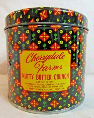 Vintage Cherrydale Farms Nutty Butter Crunch Can Kitchen 50's Candy Tin