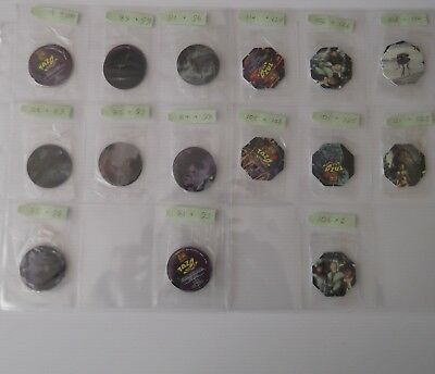 15 Double Packs Sealed Star Wars Tazos = 30 Tazo - unopened - numbers on photos