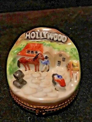 Limoges France Trinket Box - Hollywood Movie Set