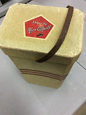 1940S, Vintage Shoebox, Art Deco, Cardboard With Lid