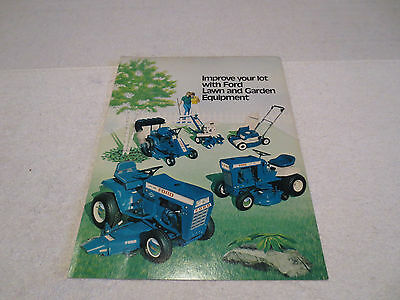 Vintage Ford Tractor Lawn & Garden Mowers Equipment Sales Literature Brochure