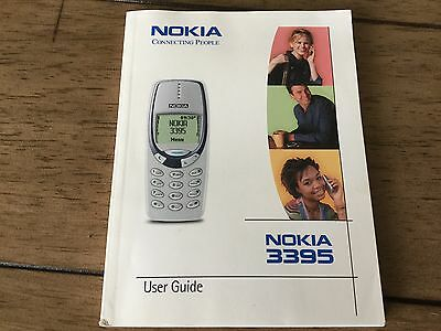 Nokia 3395 Cell Phone User Guide Instruction Manual