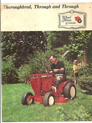 1960s EARLY WHEEL HORSE LAWN TRACTOR SOUTH BEND IN INDIANA CATALOG