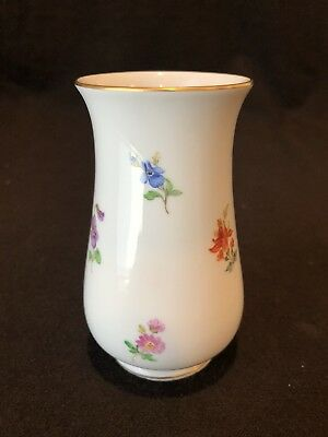 Meissen Scattered Flowers Bud Vase Gold First Quality Crossed Swords Circa 1934