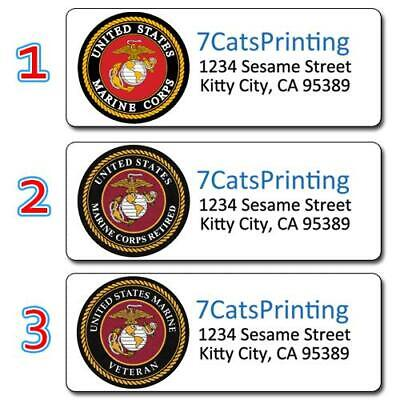 30 USMC Return Address Labels United States Marine Corps Retired Veteran Current