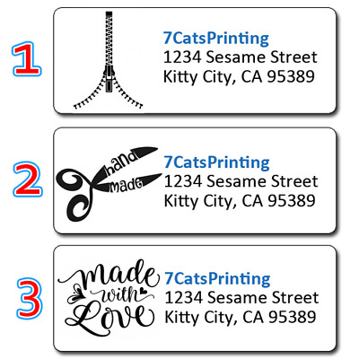 30 Personalized Handmade Crafter Return Address Labels