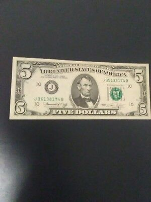 *** Error  Note 1974  $5 Note Mismatched 2Nd Serial #, Desireable, Free Shipping