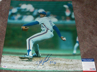 DOCTOR K! Dwight Doc Gooden Signed NEW YORK METS 16x20 Photo CY YOUNG 85 PSA/DNA