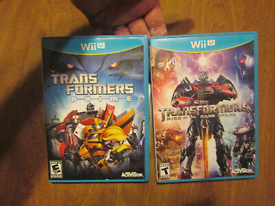 Transformers: Rise of the Dark Spark + Prime Nintendo Wii U LOT SET COMPLETE