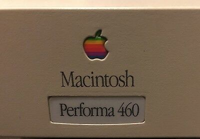 Vintage Apple Macintosh Performa 460 LC III+ 68030 33MHz  500meg HD 40 Megs Ram