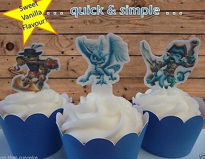 #593. Skylander EDIBLE wafer cupcake cake toppers  birthday