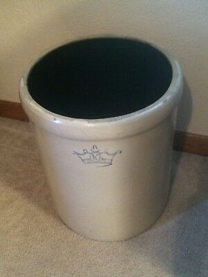 Vintage Large 10 Gallon Robinson Ransbottom Stoneware Crock