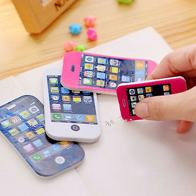 1X iPhone Shaped Rubber Pencil Eraser Cute Gift Toy Students Premium Stationery