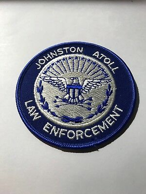 Old Johnston Atoll South Pacific Police Patch