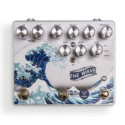 Foxpedal The Wave Dual Delay Reverb Modulation Guitar Effects Stompbox Fox Pedal