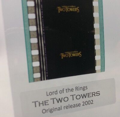 Authentic Lord Of The Rings TWO TOWERS Movie Film Strip 5 Cells TITLE FRAMES