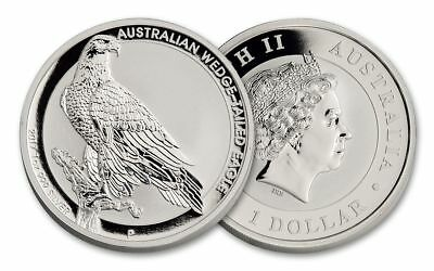2017 Wedge Tailed Eagle - 1oz 99.99% Silver Coin BU (62,656 Mintage)