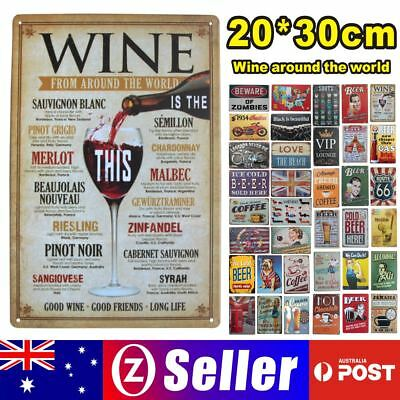 Tin Metal Sign Plaque Bar Pub Vintage Retro Wall Decor Poster Home Club Tavern12