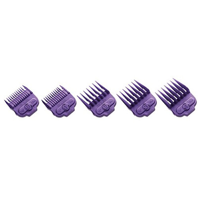 """andis andis Nano-silver Magnetic Attachment 5-combs, Small, Sizes 1/16"""", 1/8"""", 1"""