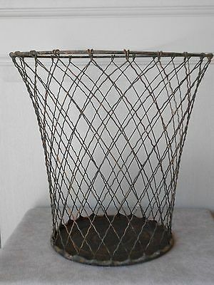 Antique french Wireware Office House Trashcan