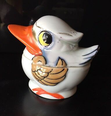 Vintage Japanese Bird ~Sugar Bowl ~Lidded Box ~Hotta Yu Shoten