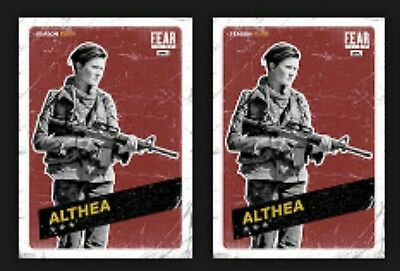 2x ALTHEA-CHALLENGERS-RED-TOPPS WALKING DEAD CARD TRADER