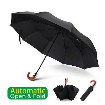 Travel Umbrella Sun/Rain 10-Rib Portable Automatic Open/Fold Windproof Resistant