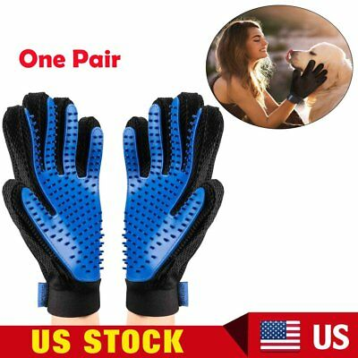 Pet Grooming Gloves Deshedding Brush Glove Cat Dog Massage Hair Fur Removal Tool