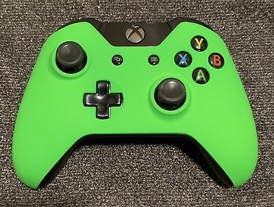 OEM Genuine Microsoft Xbox One Wireless Controller Green Soft Touch