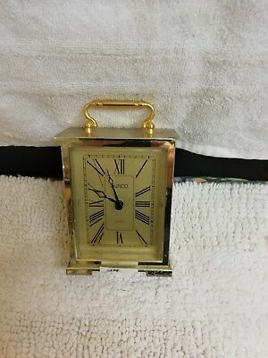 Brass Carriage Clock Quartz Battery Movement Made By Kundo