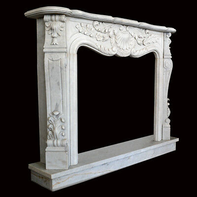 Fireplace White Marble Frame Style Classic White Marble Old Fireplace Frame