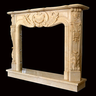 Fireplace Marble Yellow Egypt Frame Style Classic Egypt Marble Classic Fireplace