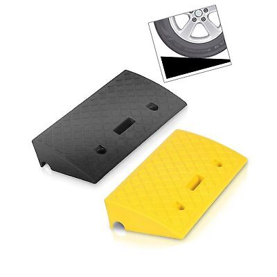Pyle Portable Lightweight Curb Ramps 2 Pack Heavy Duty Plastic Threshold Ramp Kit Set Sidewalk for Driveway PCRBDR27 Scooter Bike Motorcycle /& Wheelchair Mobility Loading Dock Car Truck