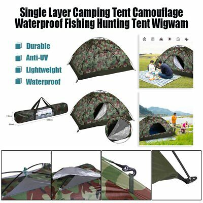 Single Layer Camping Camouflage 2 Person Waterproof Lightweight Beach Tent UM