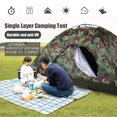 2 Man Pop Up Two Person Dome Tent Waterproof Outdoor Camouflage color UM