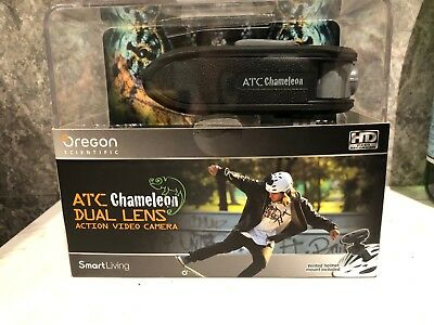 Oregon Scientific Action Video Camera (ATC Chameleon) with Dual Lens -Black, NEW
