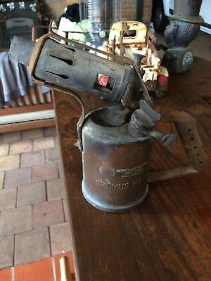VINTAGE BRASS OPTIMUS No 411 BLOW TORCH. MADE IN SWEDEN. NO DENTS. ESTATE ITEM