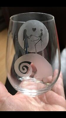 Stemless Wine Glass - Nightmare Before Christmas    *** SEE ITEM DESCRIPTION ***