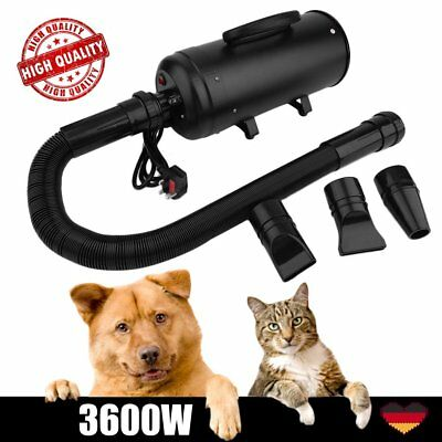3600W Hundefön Tierfön Flüsterfön Hundetrockner Fön Pet Dryer Dog Cat Schwarz
