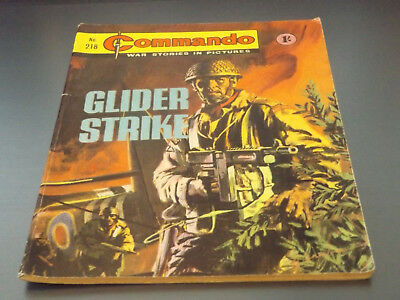 Commando War Comic Number 218!,1966 Issue,v Good For Age,52 Years Old,v Rare.