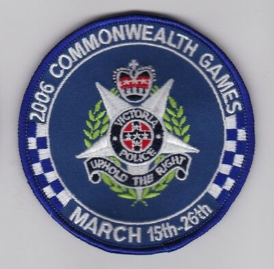 Victoria Police 2006 Commonwealth Games March 15th -26th Patch (social)