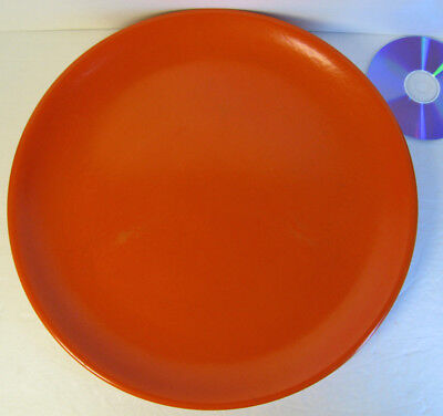 """HUGE 14.5"""" Radioactive Red Orange Chop Plate Geiger Counter Tested Bauer? 50KCPM"""