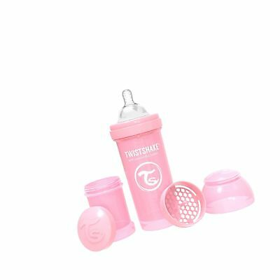 Twistshake Anti-Colic 180ml Baby Bottle With Mixer in Neon Pink BNIB