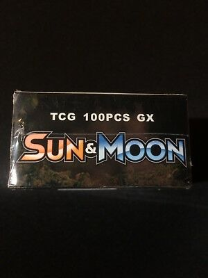 100Pcs Pokemon TCG Cards 20GX+20MEGA+1ENERGY+59EX Holo Sun & Moon Full Art Lot