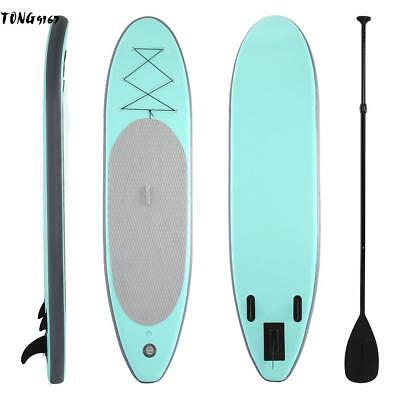 10' Inflatable Stand Up Paddle Board Universal SUP Wide Stance Adjustable Travel