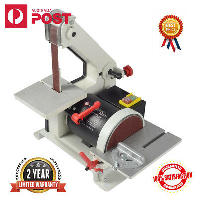 "300W 1""x30"" Belt 5"" Tray Disc Sander Grinder Motor Bench Extractor Woodworking"
