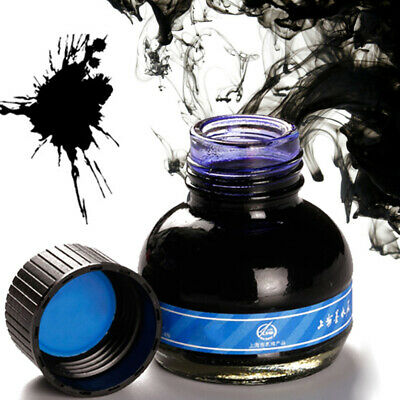 60ml Blue Calligraphy Fountain Pen Smooth Ink Glass Bottle Office Supplies